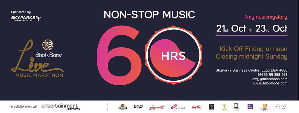 The Talbot & Bons music marathon starts on Friday, October 21