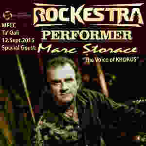 Marc Storace the voice of Krokus is performing at Rockestra
