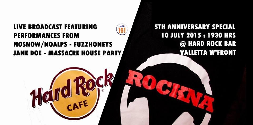rockna hard rock cafe malta live concert radio show