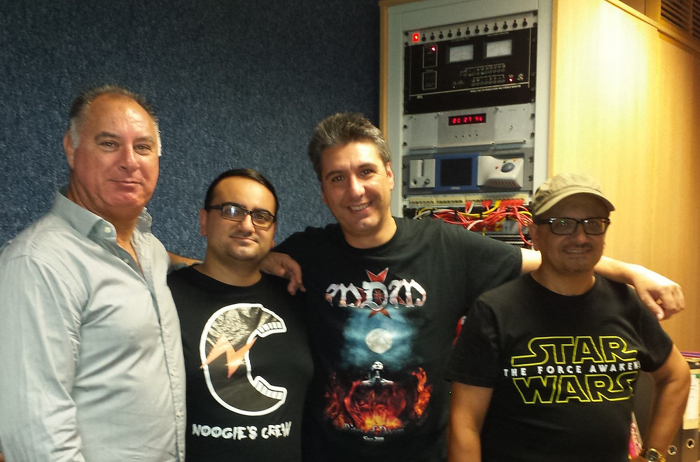 Noogie's Crew with Michael Bugeja after the exclusive launch of their debut EP and interview on ROCKNA