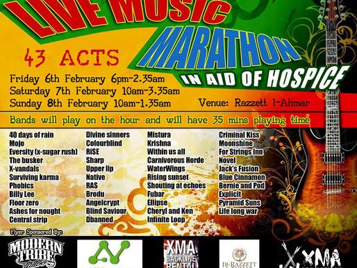 MUSIC MARATHON FOR HOSPICE MALTA