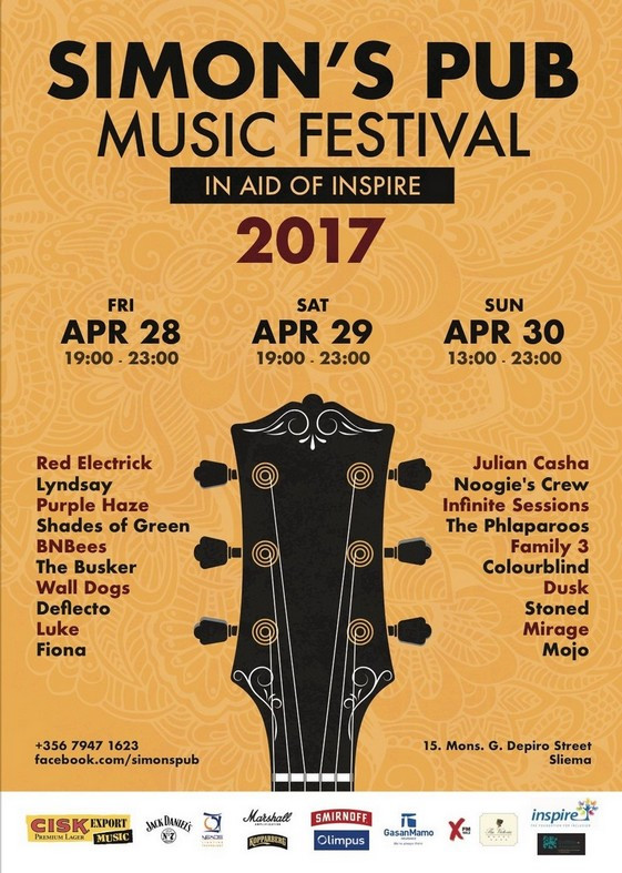 Simon's Pub Music Festival is back for its 19th edition!