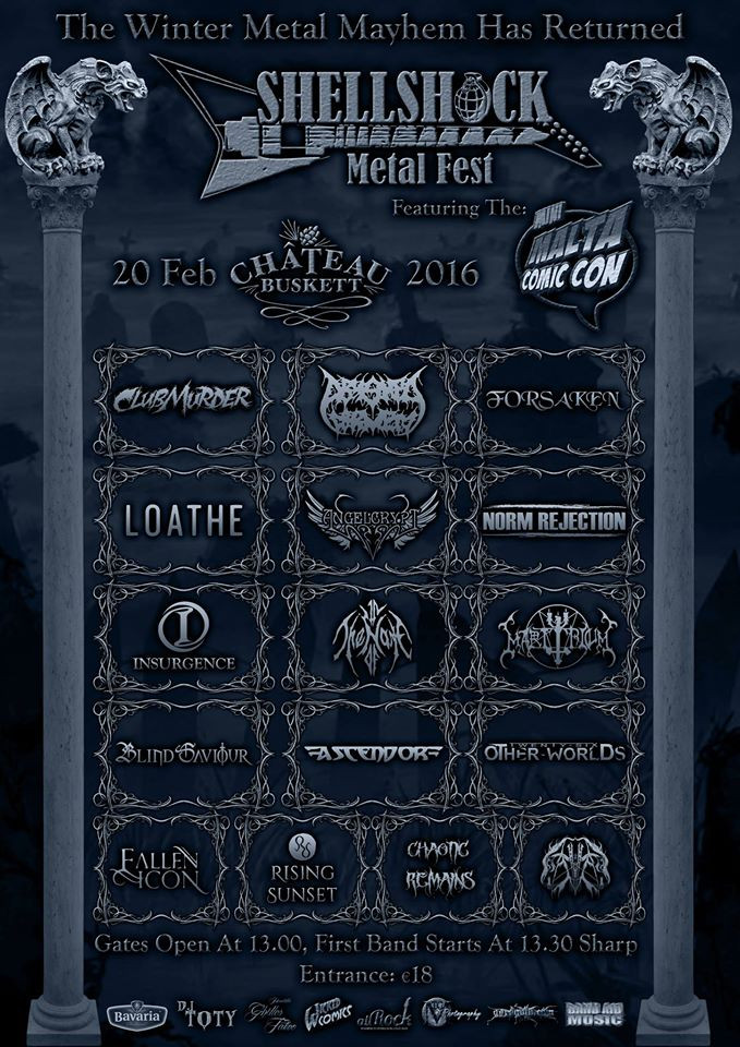 Shellshock Metalfest 2016 will be held on Saturday 20 February, 2016