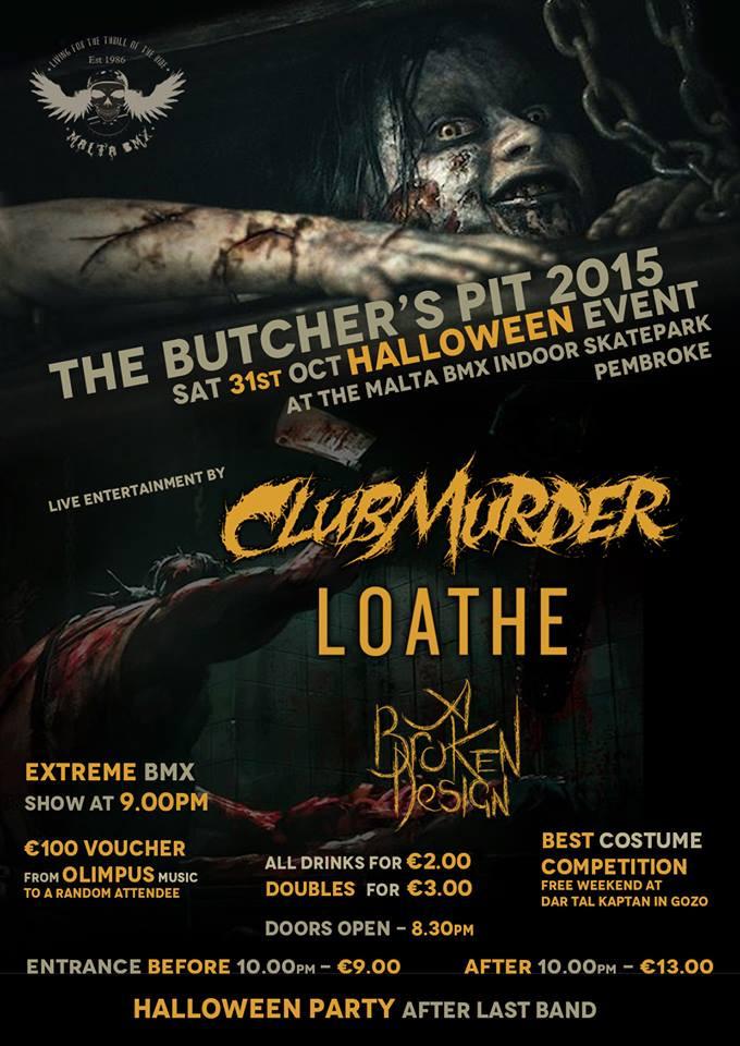The Butcher's Pit Halloween metal concert Malta