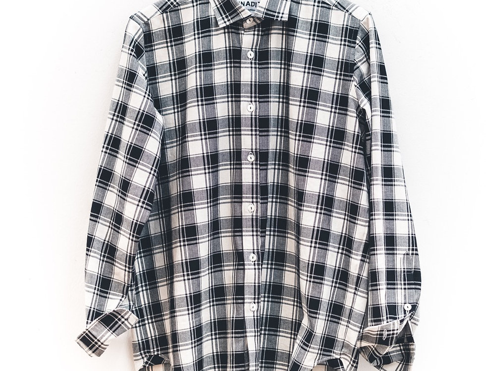 Camicia regular Checks Black & White