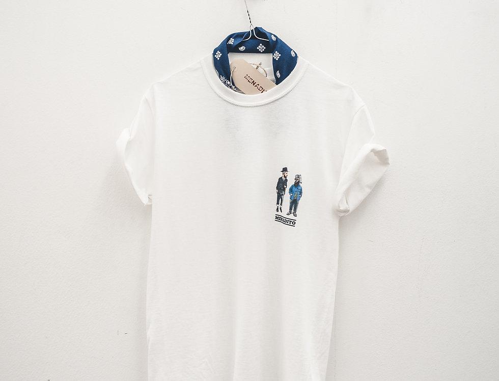 T-Shirt Bianca Con stampa Japan