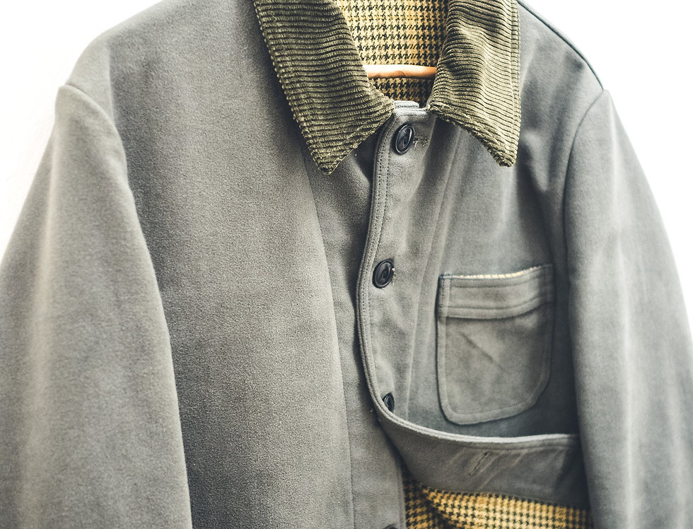 Work Jacket in fustagno dark green