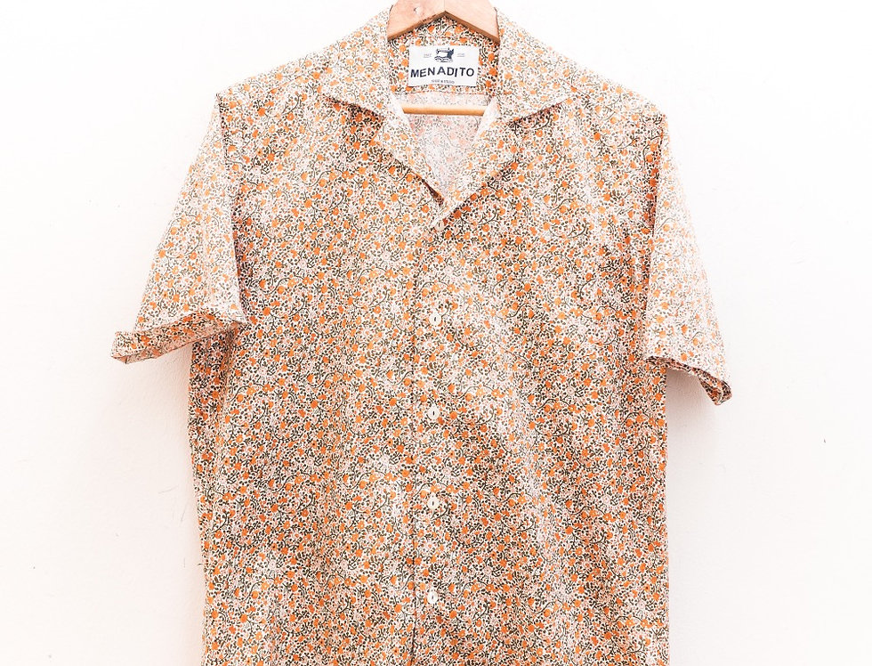 Camicia Camp Collar cotone fantasia