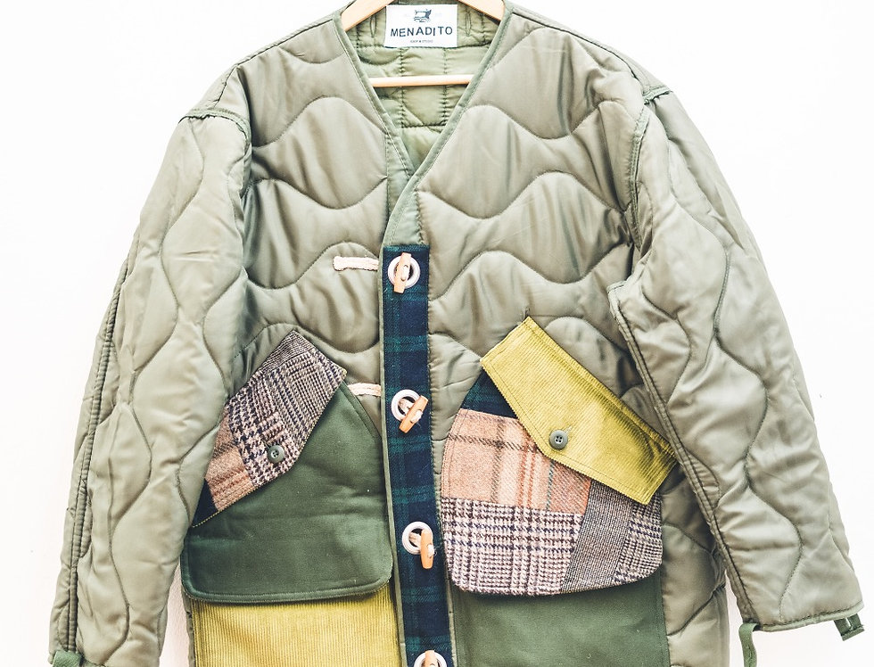 Liner double hunter pocket wool patch