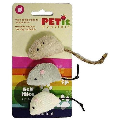 Ratones Ecológicos con catnip adentro