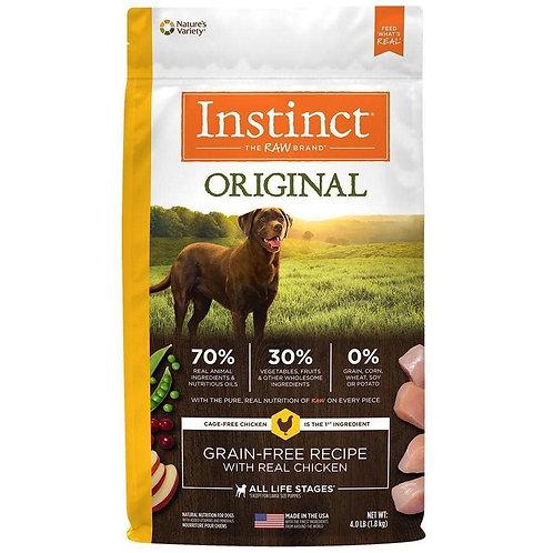 Instinct Pollo - Presentaciones: 4 lb y 22.5 lb - Para Perros