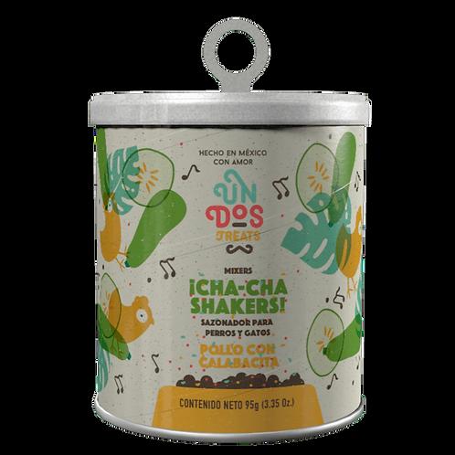 ¡Cha-cha-Shakers! Sazonador para perros y gatos - Pollo con Calabacita