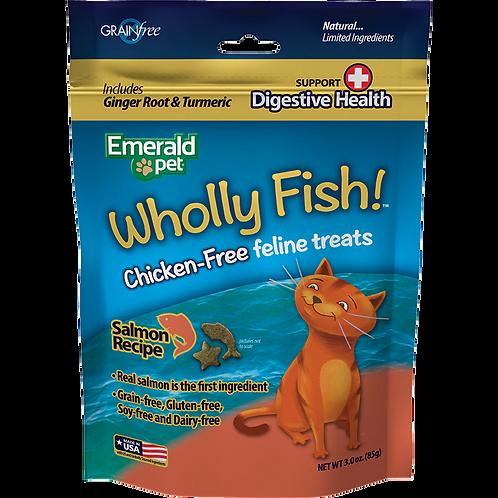 Premios Wholly Fish Digestive Health Salmón - Presentación disponible 85g.-Gatos