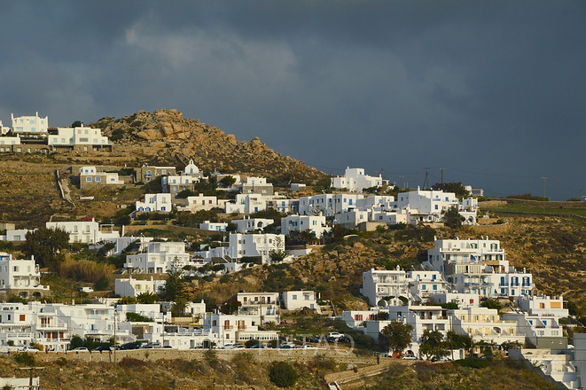 View of Mykonos from Rocabella Mykonos Resort, Mykonos, Greece