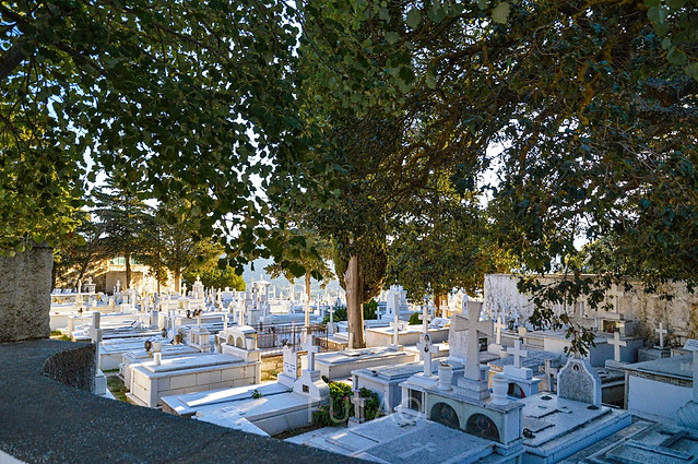 Cemetary in the Marble Village Apeiranthos, Naxos, Greece