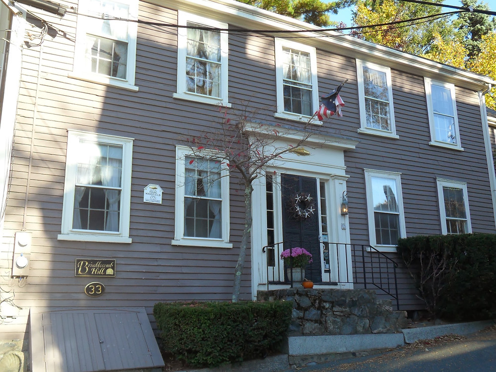 Exterior of the charming Brimblecomb Hill Bed & Breakfast, Marblehead, Massachusetts