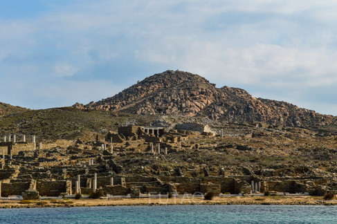 Delos from the port, Greece