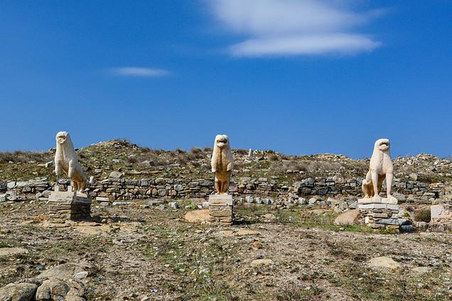 The lion statues, Delos, Greece