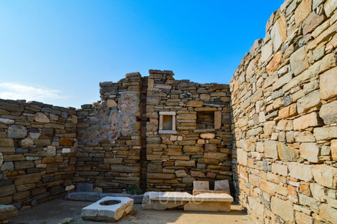 Stone house ruins, Delos, Greece