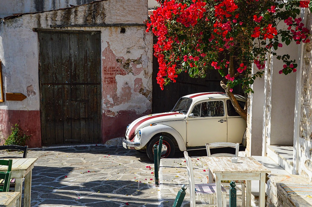The picturesque village of Chalki, Naxos, Greece
