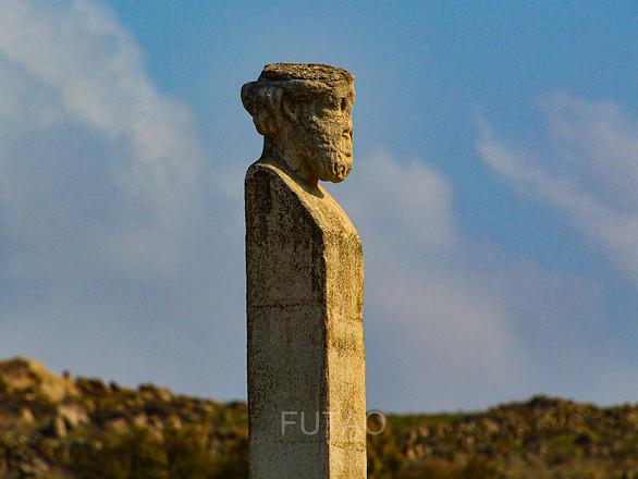 Statue Detail, Delos, Greece