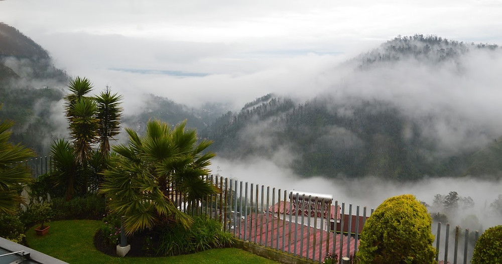 The stunning view from our room, Hotel Stubel, Quito
