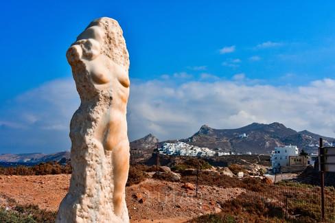 Marble statue near the Temple of Apollo, Naxos, Greece
