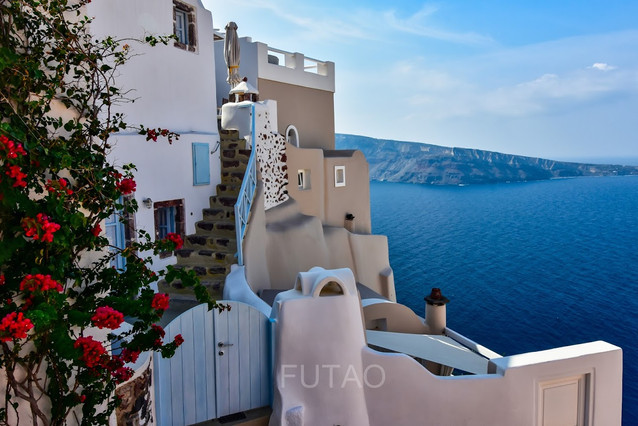 Steps of Oia, Santorini, Greece