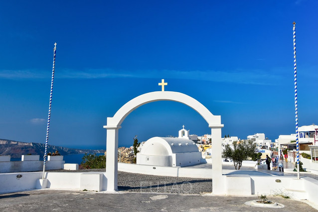 Saint George Orthodox Church, Oia, Santorini, Greece