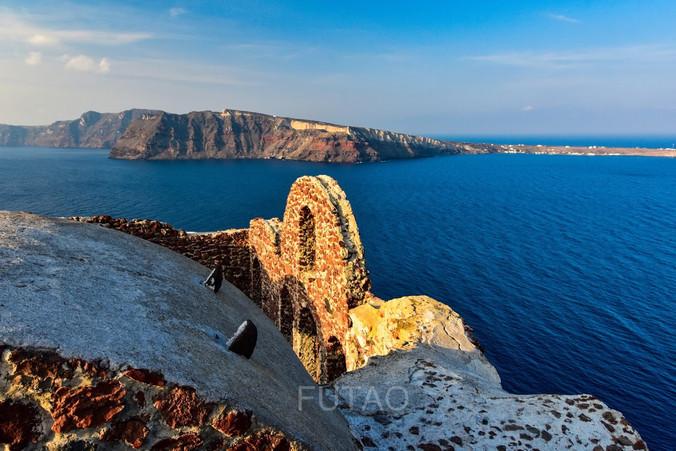 Byzantine Castle Ruins, Oia, Santorini, Greece