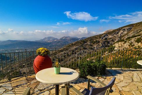 Panoramic view at the Rotonda Restaurant, Naxos, Greece