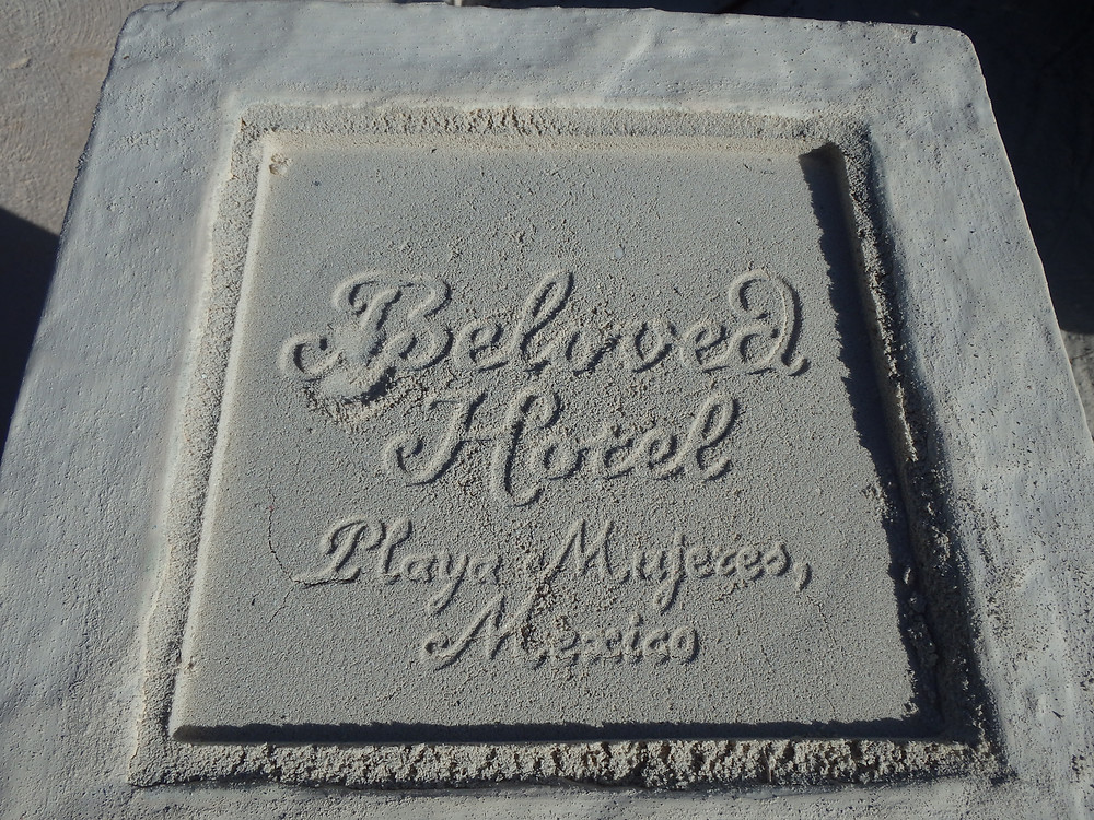Beloved Playa Mujeres sand stamp, Cancun, Mexico