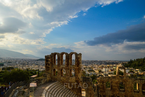 View from the top of the Acropolis, Athens, Greece