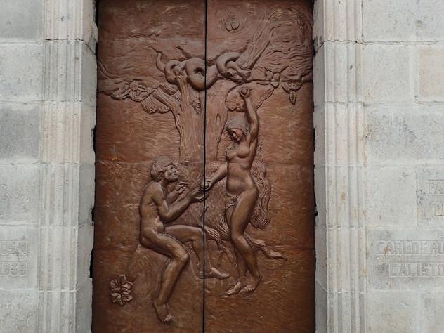 Door on Basilica del Voto Nacional, Quito, Ecuador