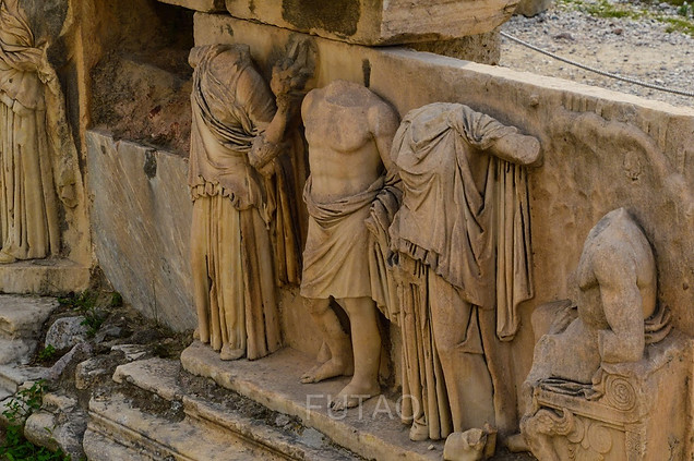 Details of Dionysis' Theater, Athens, Greece