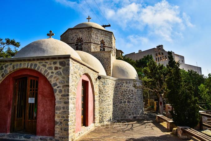 Monastery of Profitis Ilias, Santorini, Greece