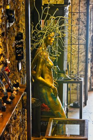 Madusa Statue in Mykonos Shop, Greece