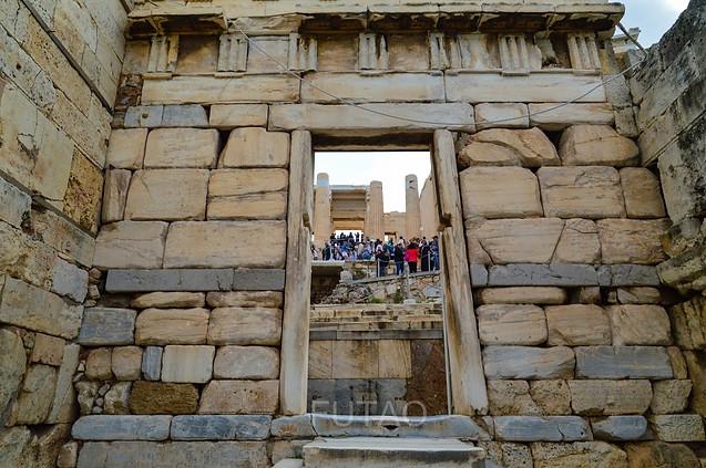 Climbing the Acropolis, Athens, Greece