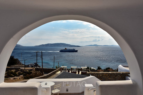 View from Porch at Rocabella Mykonos Resort, Mykonos, Greece