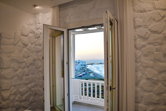 View of Chora Naxos from the balcony of Cyano Suites, Naxos, Greece