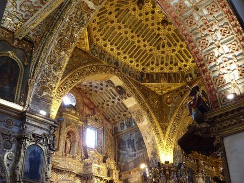 Inside Compania de Jesus, Quito, Ecuador