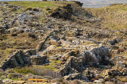 View from above, Delos, Greece