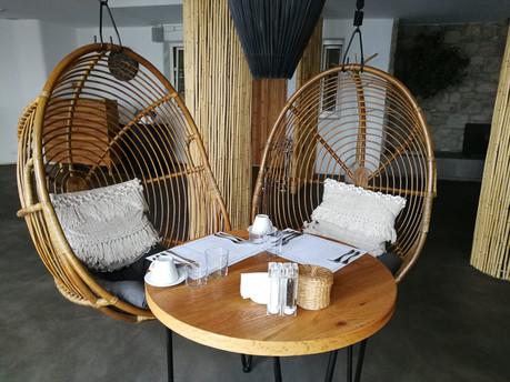 Table at Reeza Restaurant at Rocabella Mykonos Resort, Mykonos, Greece