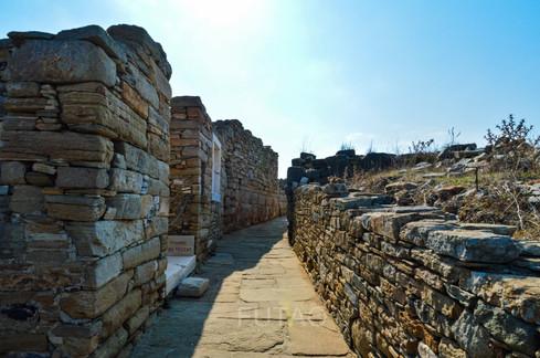 Stone pathways, Delos, Greece