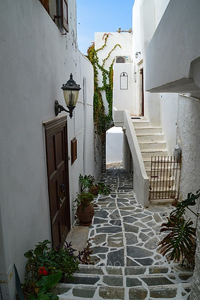 Homes in the Kastro, Naxos, Greece