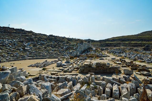 Ancient theater, Delos, Greece