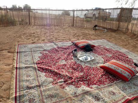 Coffee and Dates in the Dubai Desert