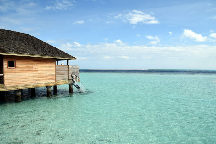 Over-water bungalow at Hurawahli Resort