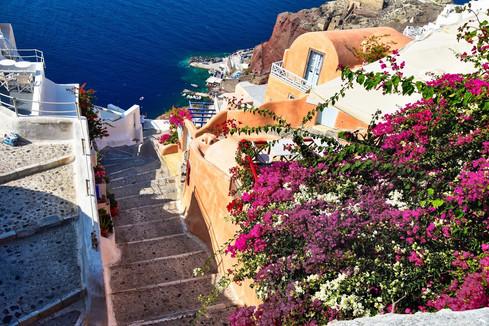 Steps of Oia, Santorini, Greece