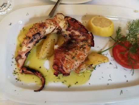 Grilled Octopus, Athens, Greece